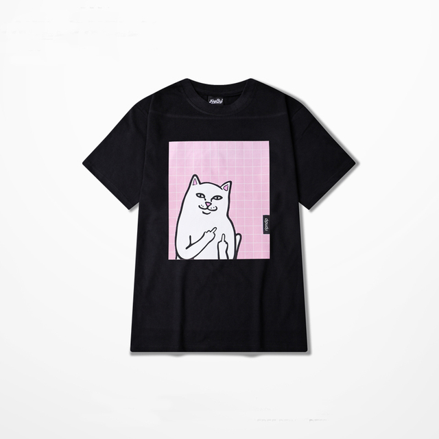 0f7655717 RIPNDIP T Shirt Men Wome Cartoon Cat Cotton T-shirts Hip Hop RapThrasher  Rip n