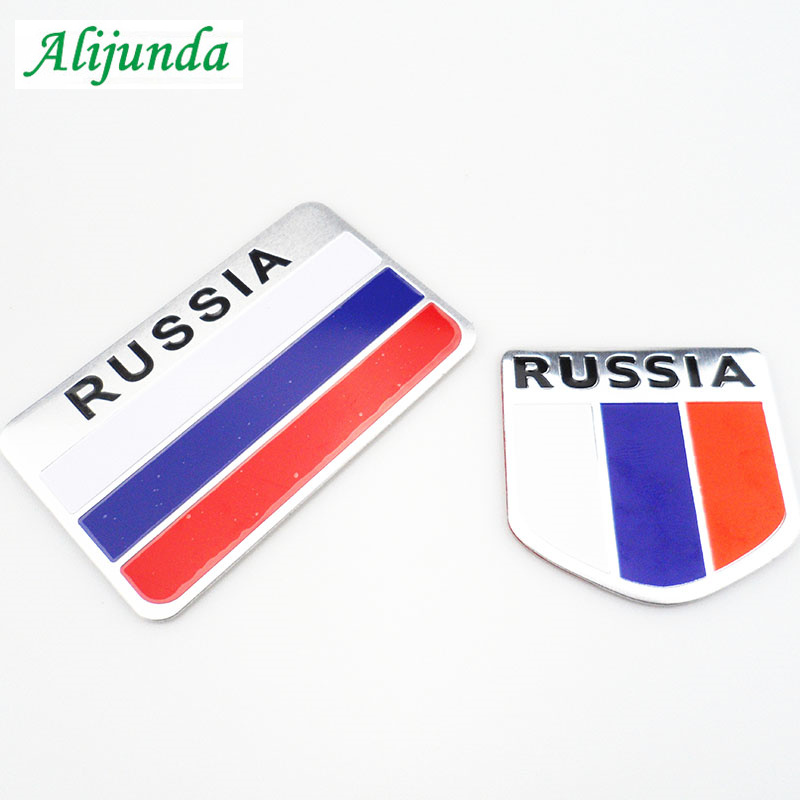 High quality Russian 3d flag <font><b>logo</b></font> car sticker for Cadillac Jaguar <font><b>Volvo</b></font> S40 <font><b>S60</b></font> S80 XC60 XC90 V40 V60 C30 XC70 V70 /Mini Cooper image