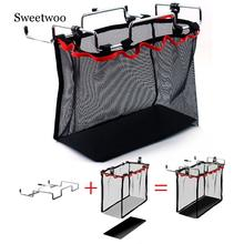 Outdoor Camping Wire Rack Portable Storage Bag Net Pocket Picnic Table Barbecue Kit Kitchen Miscellaneous Set