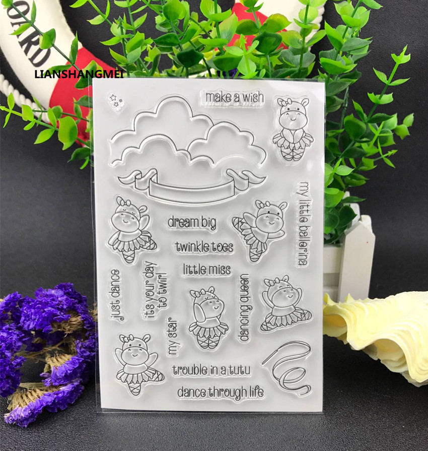 Dance Transparent Clear Silicone Stamp/Seal for DIY scrapbooking/photo album Decorative clear stamp sheets lovely elements transparent clear silicone stamp seal for diy scrapbooking photo album decorative clear stamp sheets