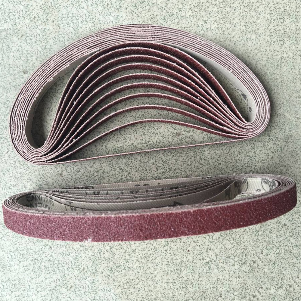10pcs Grinding And Polishing Replacement Angle Sanding Belt Grit Paper Sanding Paper Sander Belts For Angle Grinder Machine
