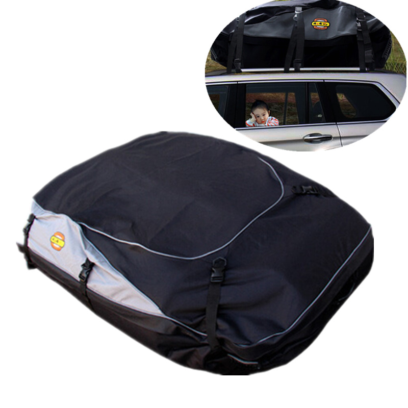 Car Waterproof Roof Luggage Bag Cargo Carrier Exterior Bag Roof Top Rack Mount For Auto Travelling Exterior Parts