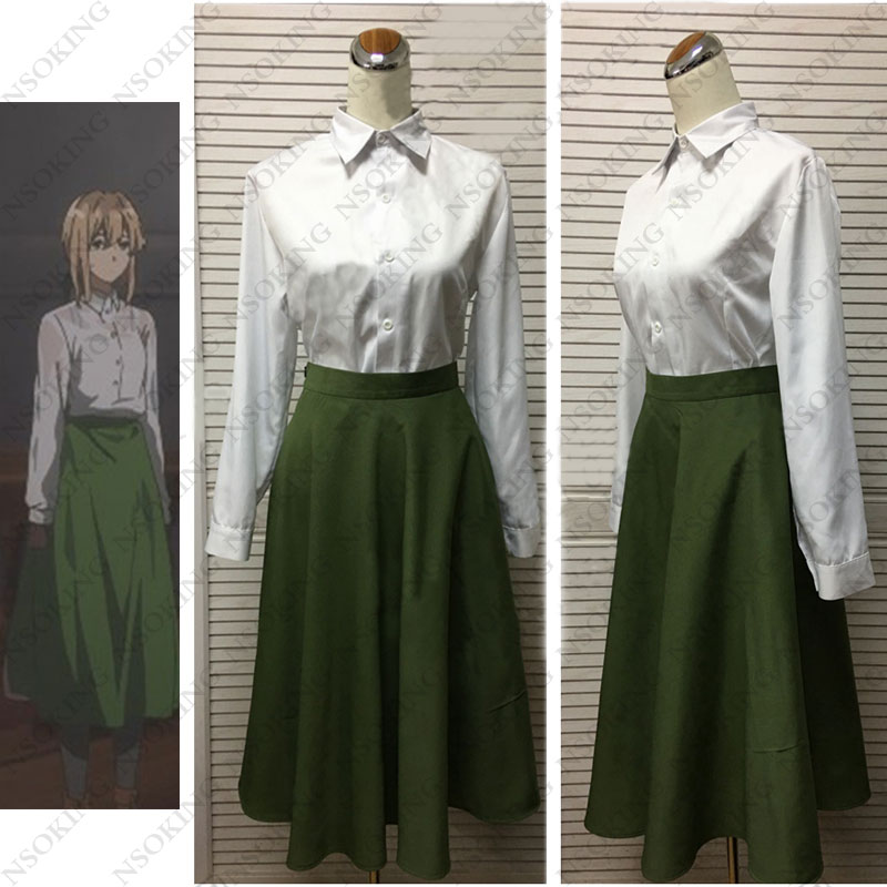 Violet Evergarden Cosplay Anime shirt skirt Costume-in ...