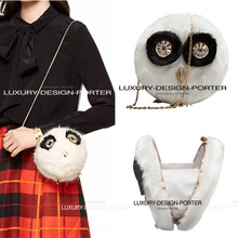New 3D Animal shape Faux Fur clutch bag Chain purse Ladies IT bag Party Wedding shoulder bag Bolsa