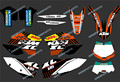 0275 NEW TEAM GRAPHICS WITH MATCHING BACKGROUNDS FIT FOR KTM Motorcycle SX XC XC-W EXC Series 2008 2009 2010 2011
