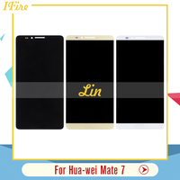 1PCS IFire Black White Gold For Huawei Ascend Mate 7 Mate7 LCD Display With Touch Screen