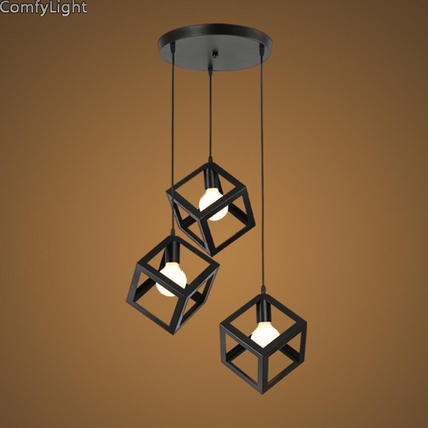 Living Room Quartet aliexpress : buy black village square pendantlamp creative