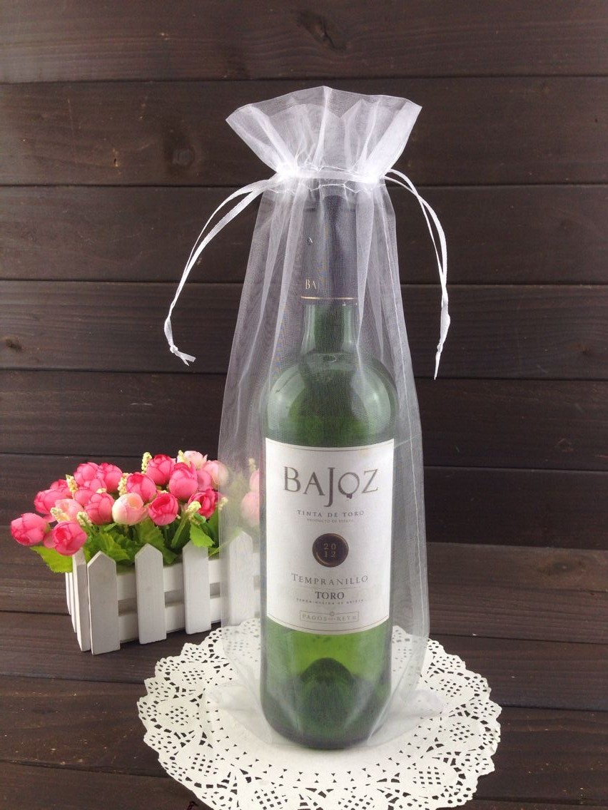 Custom made organza bag order OEM & ODM service payment for special Red wine organza bag wholesale logo is available