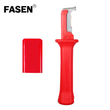FASEN 31HS German Style stripping range 50mm Cable Knife Cable Stripper Patent Stripping Tools Pliers ratchet wheel type stripper cable knife pg 5 cable stripper for 25mm comm pvc lv cable stripping tool cable stripping knife