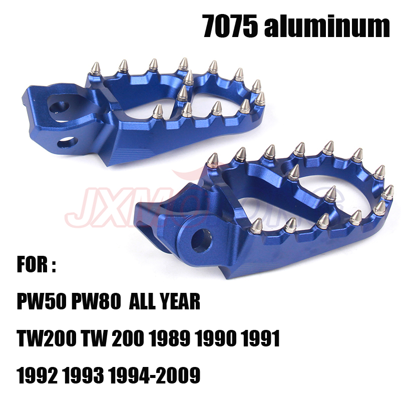 7075 Foot Pegs Rests Pedals For YAMAHA YZ 85 125 250 YZ250F YZ426F YZ450F YZ125X YZ250X YZ250FX WR250F WR400F WR426F WR450F