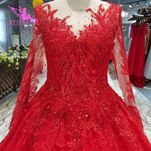 d3c779e5ca AIJINGYU Luxury Crystal Wedding Dress Sexy Gown 2018 Bridal With Sleeves  Cheap Shop Gown Germany Plus
