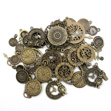 100pcs Metal Alloy Alarm Clock Charms Pendant Accessories Jewelry Finding Vintage Charms For Jewelry Making Necklace Handmade(China)