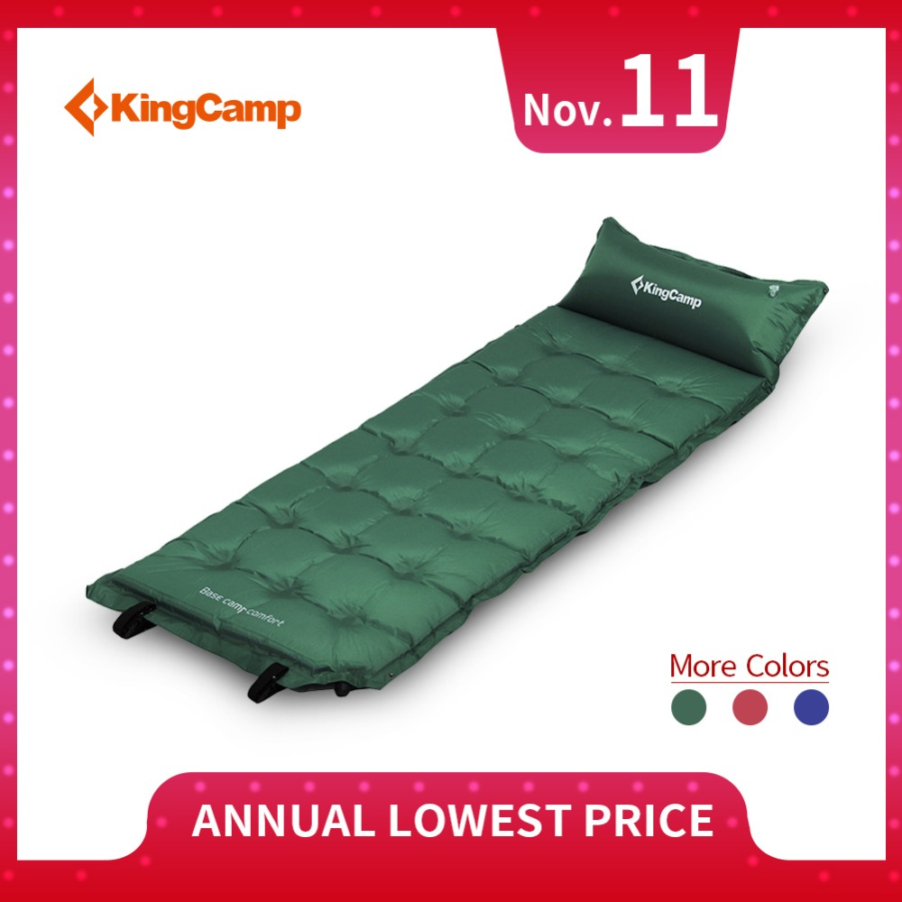 KingCamp Camping Mat Comfort Self-Inflating Sleeping Mats Mattress Hiking Backpacking Dampproof Sleeping Pad Tent Air Mat цены онлайн