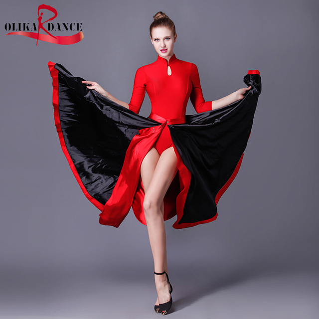 b6a874bfbf8d FLAMENCO BALLROOM BELLY DANCE SKIRT DRESSES/ New Flamenco Dance Clothes /Paso  Doble Cloak Dance