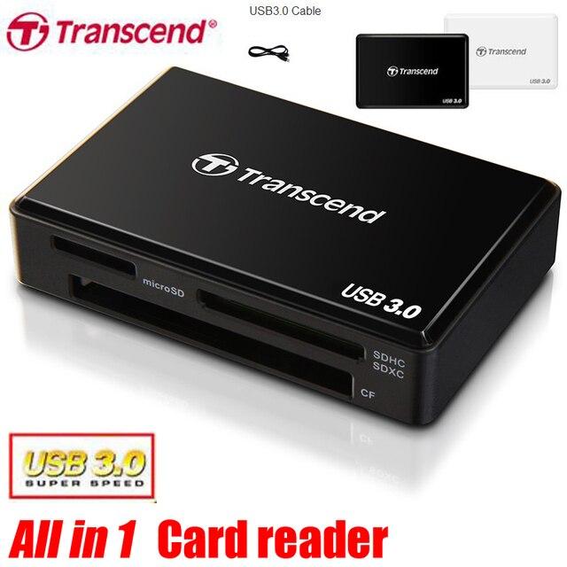 Супер Скорость Transcend Все в 1 USB 3.0 TF/SD Card Адаптер Reader Для SDHC/SDXC/microSDHC/microSDXC/UHS-I Карт CF адаптер