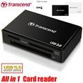 Super Velocidad de Transcend Todo en 1 USB 3.0 TF/Tarjeta SD Adaptador de lector de tarjetas SDHC/SDXC/microSDHC/microSDXC/UHS-I Tarjeta CF adaptador