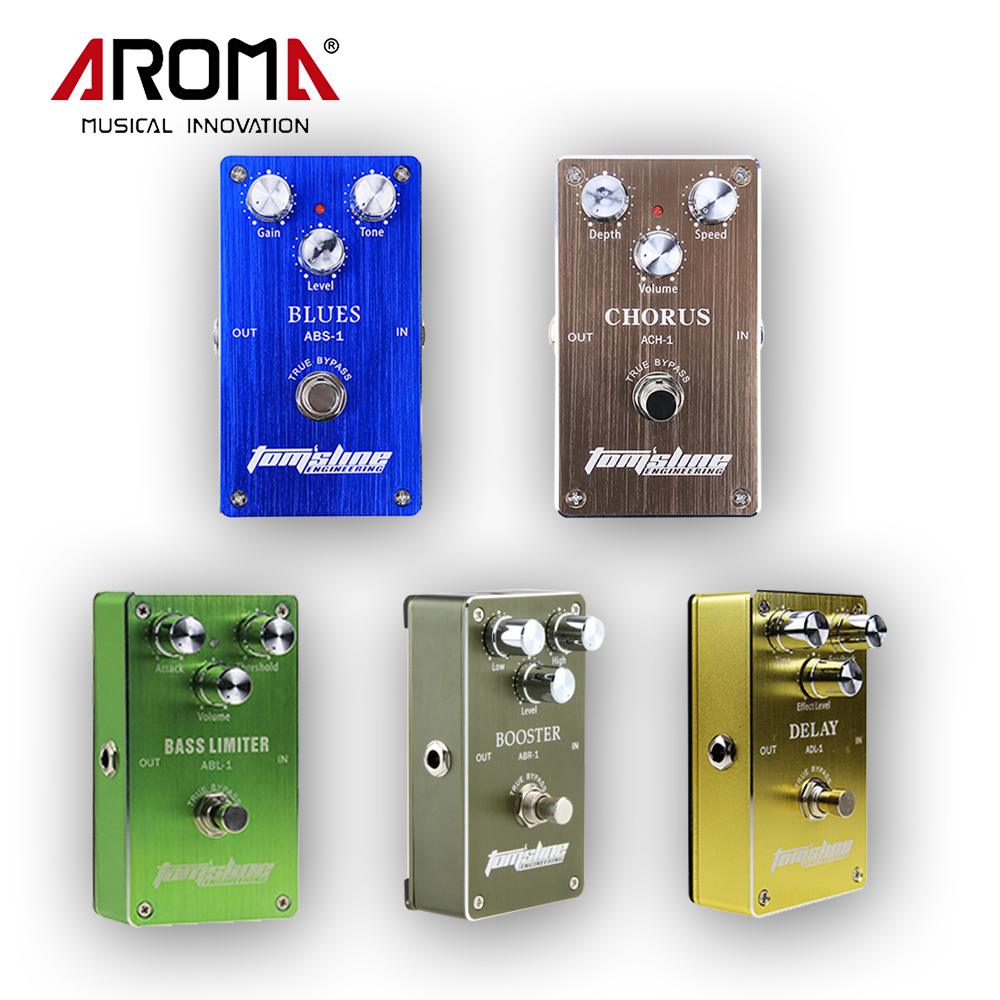 Aroma Portable Electric Power Supply and Guitar Effect Pedal, Blues Distortion/Chorus/Delay/Booster/Bass Limiter light weight aroma ach 3 mini chorus electric guitar effect pedal guitar parts and accessories