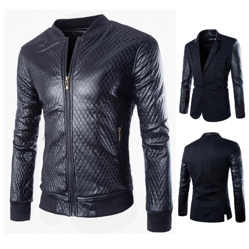 Online Get Cheap Mens Leather Blazer Jacket -Aliexpress.com ...