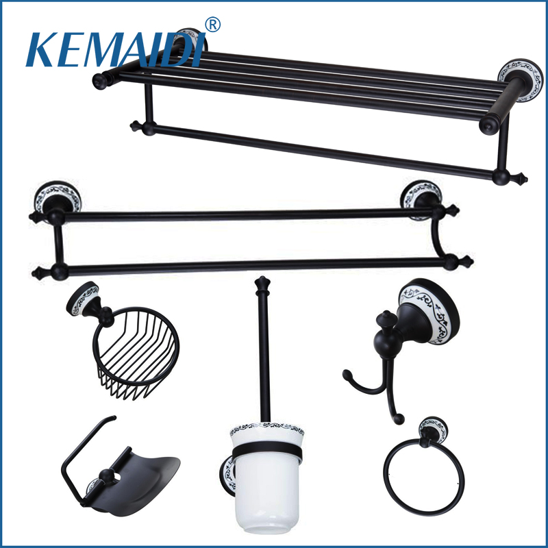 KEMAIDI Towel Rack,Towel Ring,Paper Holder,Toilet Brush Holder,Frosted glass Cup,Oil Rubbed Bronze B5143 Bathroom accessories free shipping ba9105 bathroom accessories brass black bronze toilet paper holder