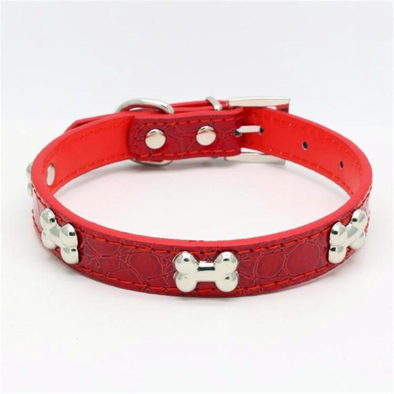 Baru Fesyen Pu Kulit Dog Kolar Logam tulang Hiaskan Kolar Binatang - Produk haiwan peliharaan - Foto 5