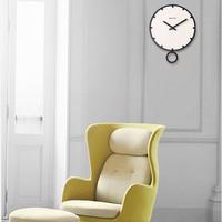 Geekcook Swing Large Wall Clock Modern Design 3d Vintage Frameless Wall Clock Living Room Craft Set Clocks Wooden White 12 Inc