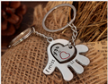 Lovely palm loving heart couple key chain Korea creative fashion key chain