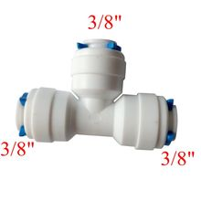 3/8″OD Tube OD T Quick Connector Equal Tee Fitting RO Water Reverse Osmosis Aquarium System Connector ROUT-3-3-3