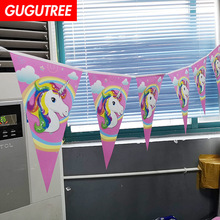 Decorate 2.2m pink unicorn banners wedding event christmas halloween festival birthday party HY-431 decorate 2 2m boys gilrs family banners wedding event christmas halloween festival birthday party hy 435