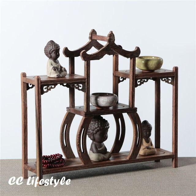74 22 1 Pc Exquis En Bois Plateau Affichage D Exposition Sculpture Stand Titulaire Vintage Home Decor Titulaire Presentoir En Rack De Stockage
