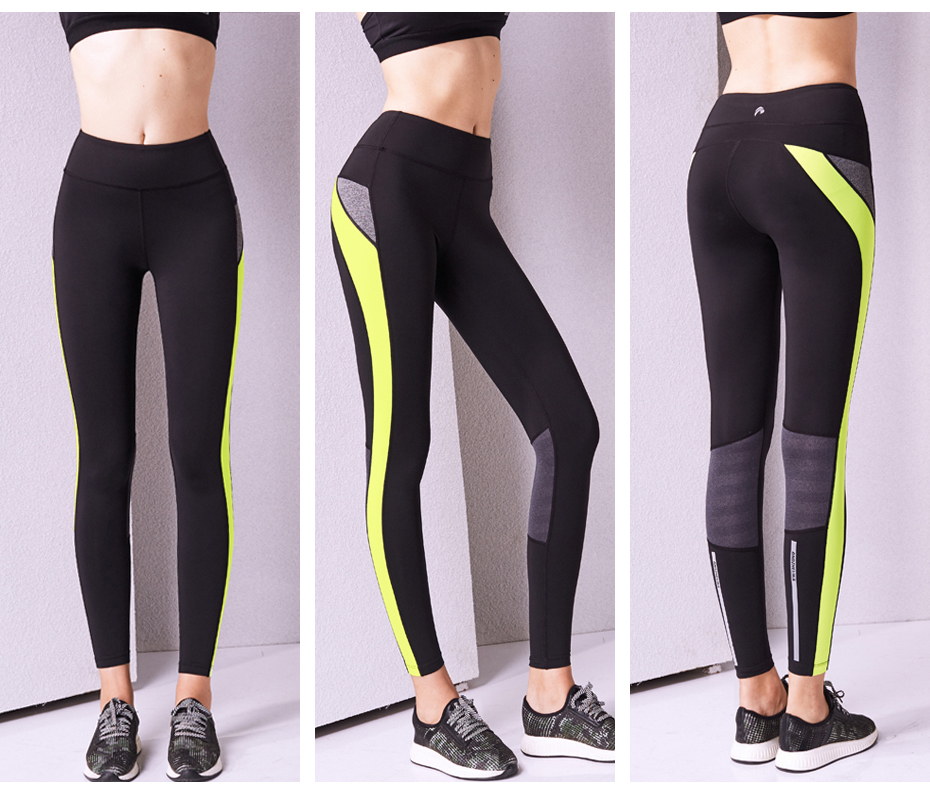 5093e731f ... Leggings Elastic Sexy Compression Tights Breathable Sports Pants.  Reflective design  reflective veneer design not only the overall style of  fitness ...