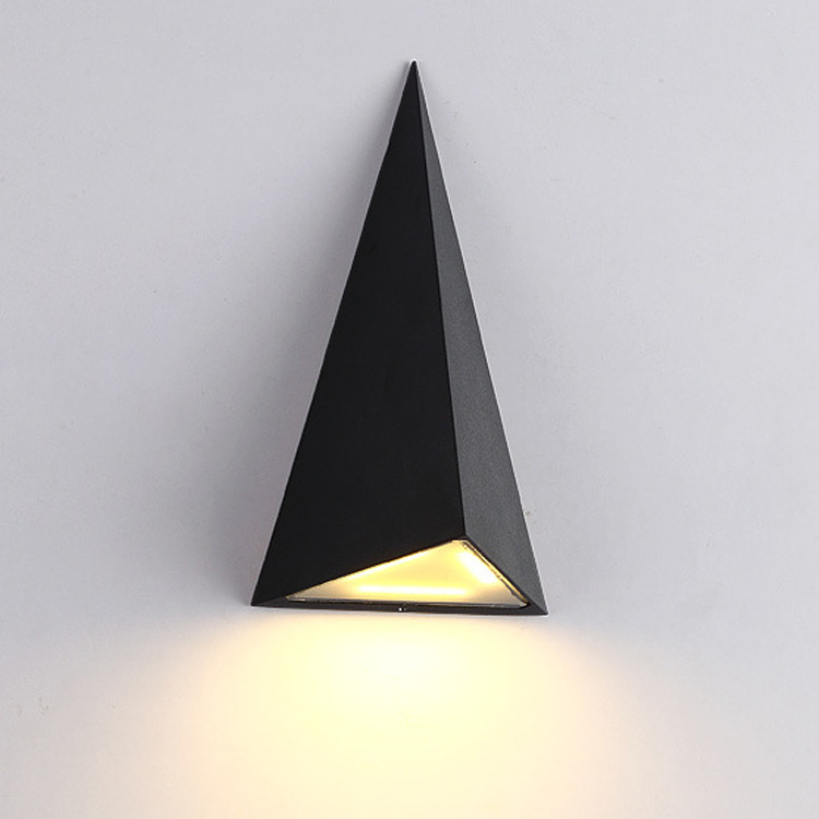 Waterproof wall lamp garden aisle creative LED outdoor triangle lighting fixtures