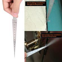 Hot 1-15mm Wedge feeler Gap Hole Taper Gauge Stainless Steel Ruler Welding Inspection Taper Gauge Metric Imperial Measure Tool недорого