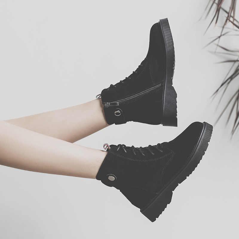 Çizmeler kadın İngiliz rüzgar öğrenci ayakkabı motosiklet kısa çizmeler kadın ayakkabısı H-HH-1
