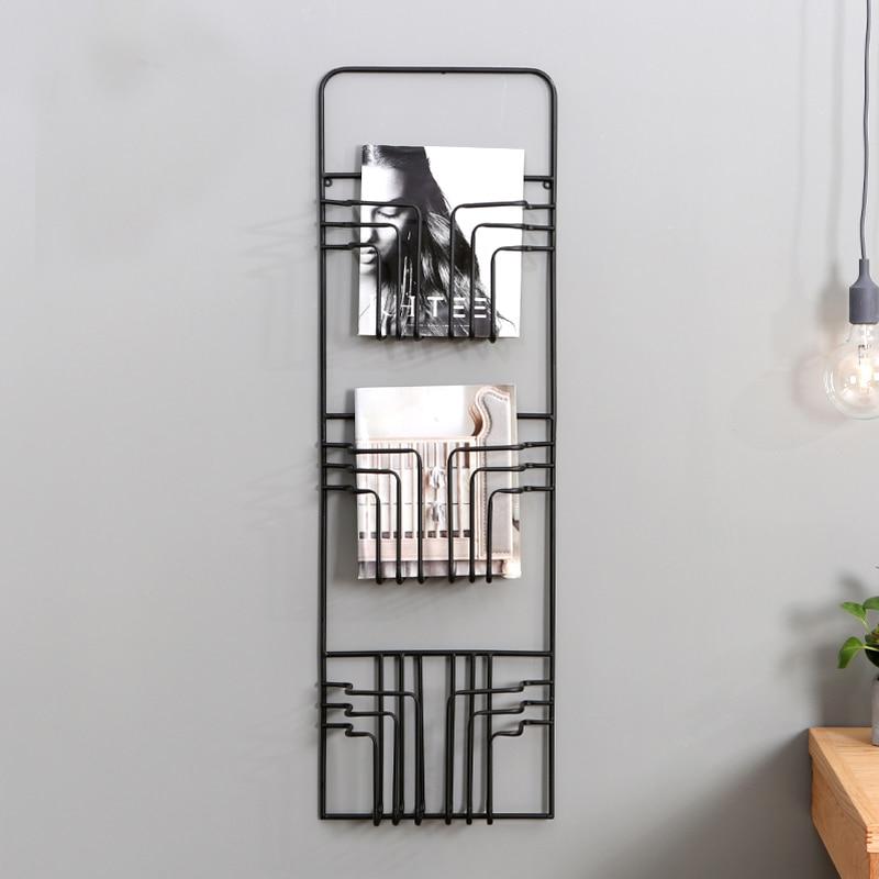Nordic Modern Magazine Newpaper Wire Wall Mounted Storage