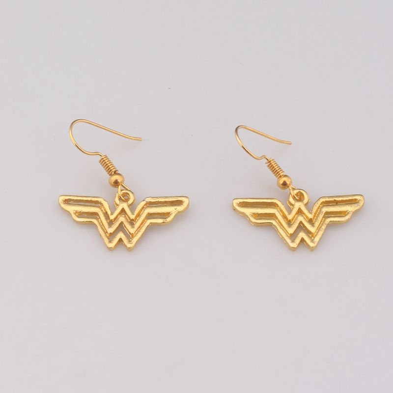 2017 Hot Movie Wonder Woman Series Earrings for Woman Silver/Gold Enamel Drop Earring Brinco Fashion Pendientes