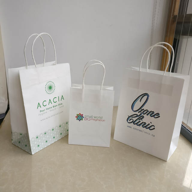954c505f9 Atacado 500 pçs/lote boutique logotipo personalizado impresso sacos de papel  kraft/sacos de compras/roupas/sacos para lojas de jóias frete grátis em  Sacolas ...