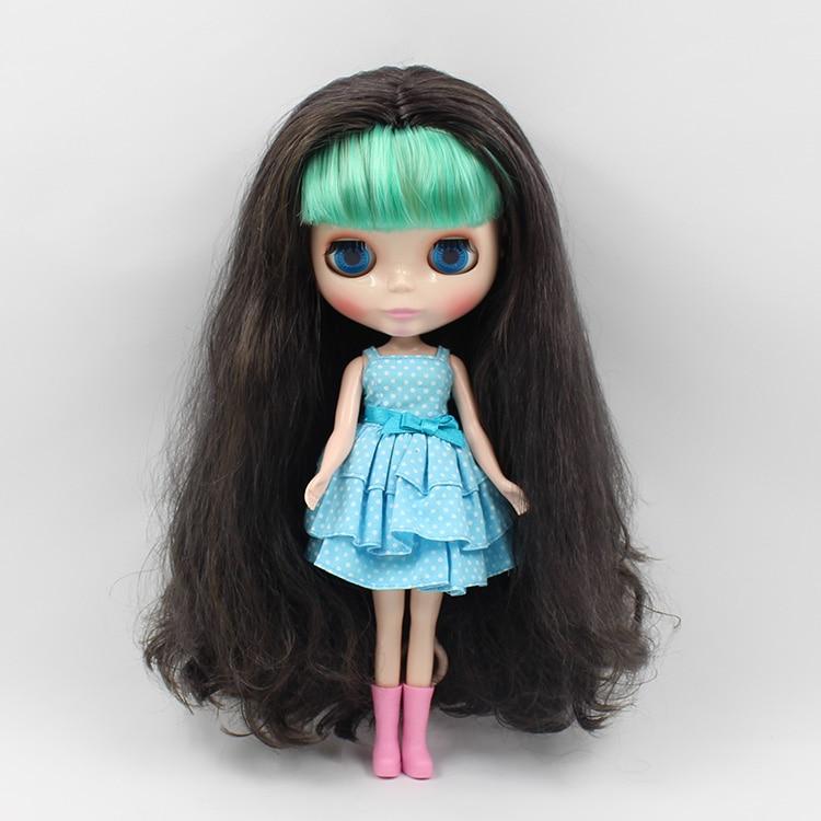 Фото Nude blyth doll little sister B female long hair with green bangs  fashion dolls for girls