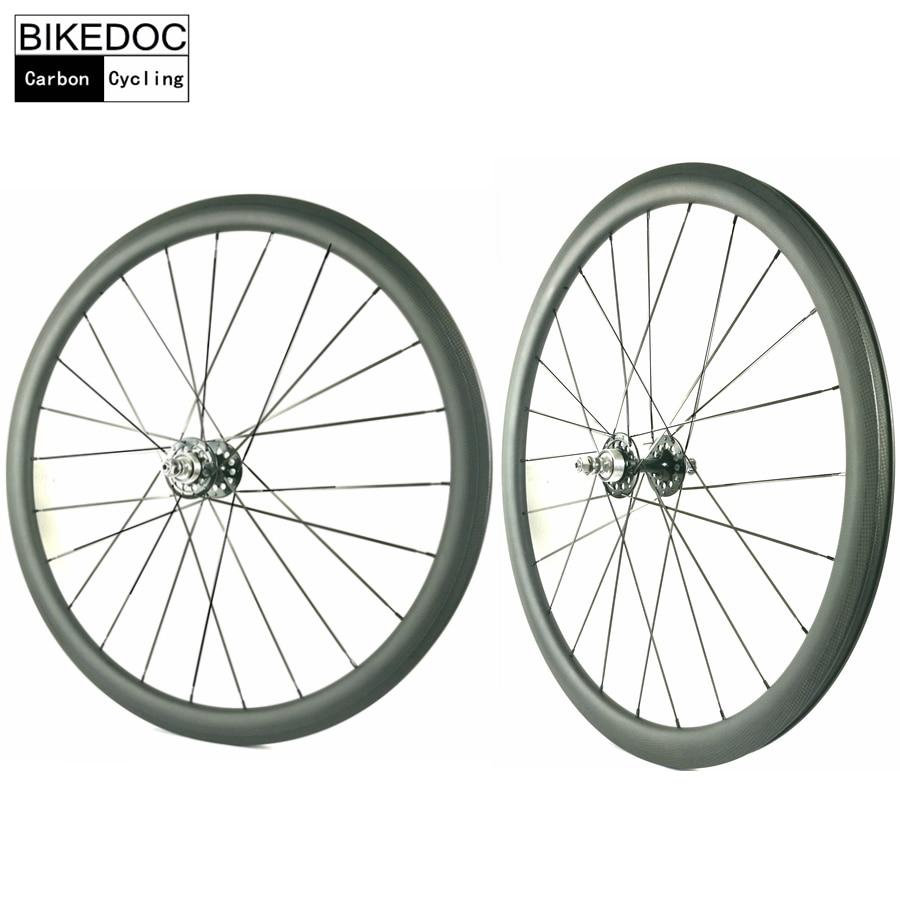 BIKEDOC 50MM Tubular Roue Velo Fixie Bicycle Wheel Fixed Gear 700C Carbon Track Bike Wheels