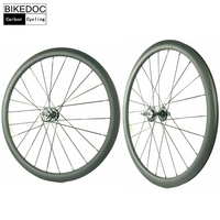 BIKEDOC 50MM Tubular Roue Velo Fixie Bicycle Wheel Fixed Gear 700C Carbon Track Bike Wheels