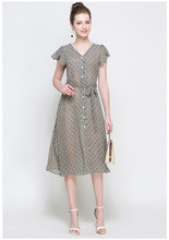 Summer Loose Printed Long Dresses Casual Clothes American Sexy Girls Work Office Dress 4XL 5XL Cheap Big Size