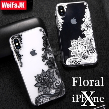 Фотография Phone Cover for iPhone X Case Fashion New Floral Girl Sexy Lace Flower Soft TPU Coque for Apple iPhone 6 7 8 Plus Silicone Case