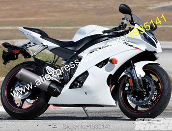 For Yamaha YZF 600 R6 2008-2016 YZF-R6 08-16 YZF R6 Full White Bodyworks Motorcycle Fairing Set (Injection molding)