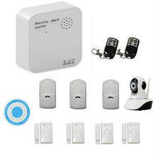 Wifi GSM GPRS Sistema de Alarma Casera Kits de IOS/Android APP Control de Trabajo con Control Remoto Inalámbrico Cámara IP Inalámbrica sirena