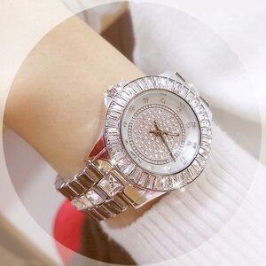 Image 5 - Bayan saat bracelet pour femmes, marque de luxe, montre à Quartz décontractée