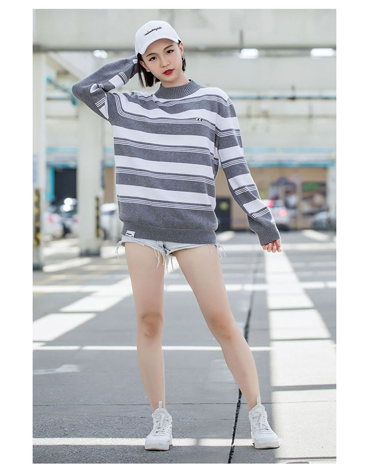 Aolamegs Striped Sweater Men Autumn Winter Fashion Casual Sweater Pullovers Harajuku Youth Couples Stripe Knitting Tops Clothing (13)