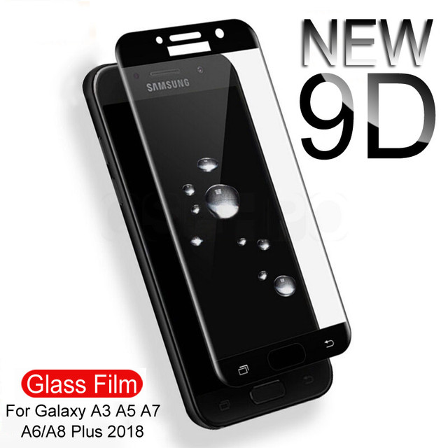 9D 9H Full Cover Tempered Glass On The For Samsung Galaxy S7 A3 A5 A7 J3 J5 J7 2016 2017 A520 A720 Screen Protective Glass Film