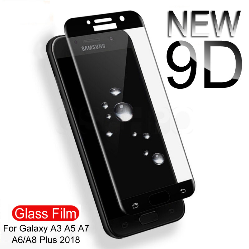 9D <font><b>9H</b></font> Full Cover Tempered <font><b>Glass</b></font> On The For <font><b>Samsung</b></font> <font><b>Galaxy</b></font> S7 <font><b>A3</b></font> A5 A7 J3 J5 J7 <font><b>2016</b></font> 2017 A520 A720 Screen Protective <font><b>Glass</b></font> Film image