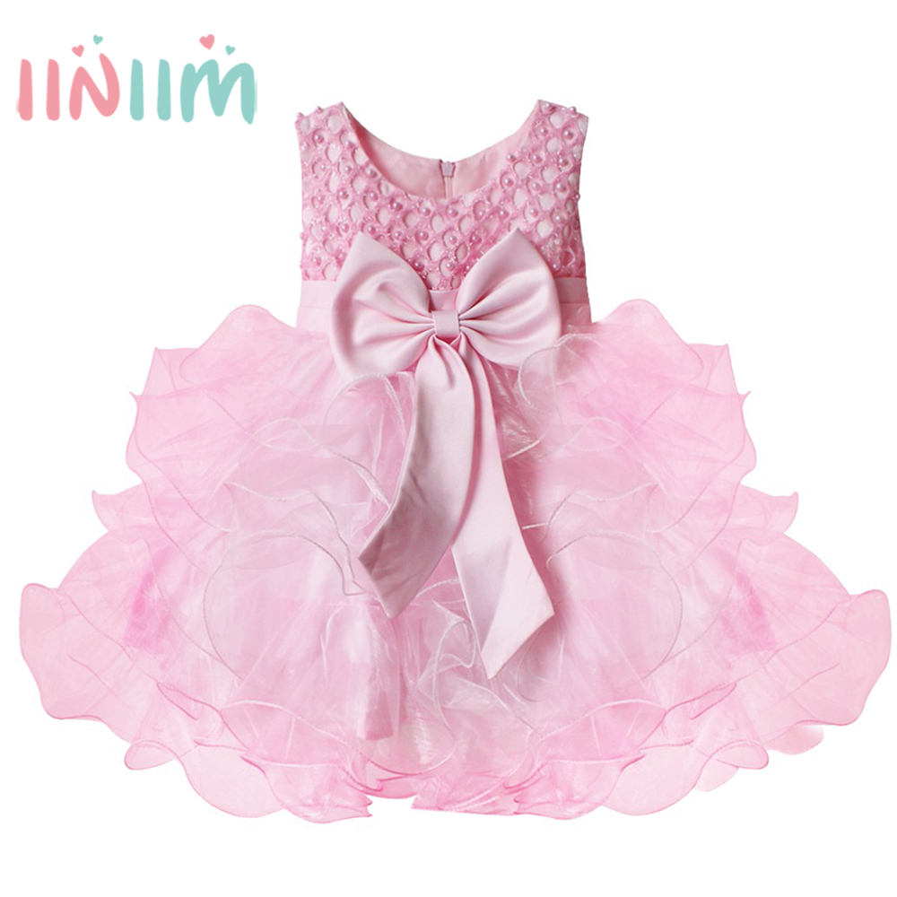 Baby girl pink sequin dress - 2017 Summer Pink Dress For Girls Cute Infant Newborn Baby Girl Dress Sequined Dresses Bow Princess