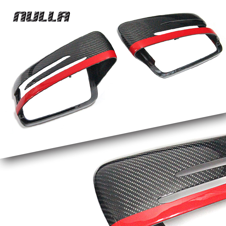 NULLA Carbon Fiber For Mercedes Benz CLA A B E C S Class CLS GLK W117 W204 2014 2015 Car Side Mirror Rearview Cover Replacement цена