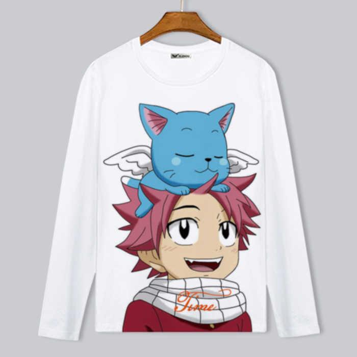 efd4f5453023 Fairytail T Shirts Men Famous Anime Fairy Tail T-Shirt Short Sleeve O Neck  Man